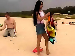 Sexy Amateur Russian Girls Doing Nudism on Public Beach