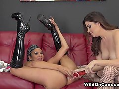 Best pornstars Sovereign Syre, Missy Martinez in Horny Stockings, Lesbian sex movie