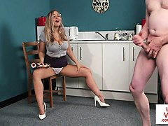 busty english voyeur teasing and instructing