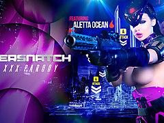 Aletta Ocean & Danny D in Oversnatch: A XXX Parody - Brazzers
