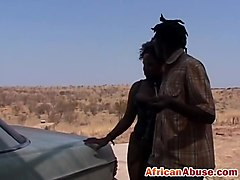 Amateur ebony in latex submission sex