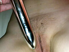 Anal beads and toying to loud orgasam