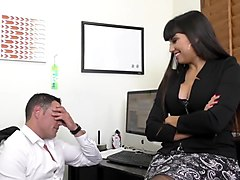 wankz- super milf boss mercedes seduces coworker