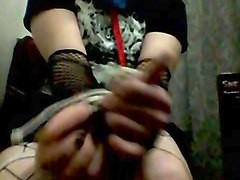 self bondage for goth boy