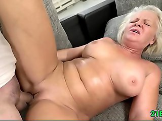 Busty Old Blonde in Hardcore Porn