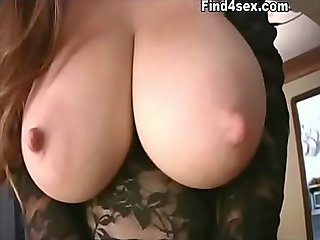 MILF tits pop out while dancing at bar