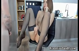 Hot Chick Fucked Good on a Office Chair
