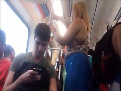 Horny voyeur follows a curvy mature lady with a fabulous ass