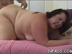 hot interracial sex between black chubby gal and white boy