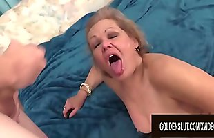 Juicy GILF Kelly Leigh Gets Rammed Doggy Style by a Skinny Younger Guy