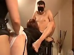 Crazy amateur Strapon, Threesomes porn scene