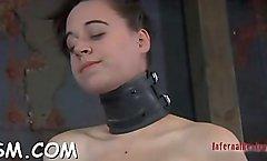 Naughty minx in heels orgasm by fingering love tunnel