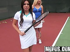 mofos - pervs on patrol - tennis lessons how to handle the b