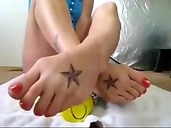 Amazing homemade Foot Fetish adult video