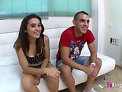 Jordi and Ainara&#039_s first exchange with an experienced swinger couple