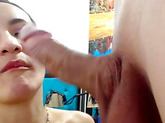 Colombian Temptress Likes Blowing Her Lucky Boyfriend