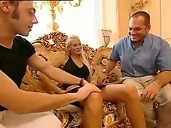 Stunning Brigitta - Black Skirt DP Threesome