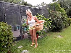 hanging out in daisy dukes and heels