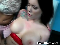 big breasted brunette ashton pierce fucked during cash stunt