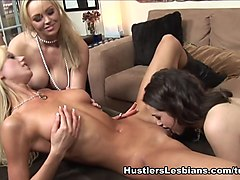 Horny pornstars Courtney James, Tanya James, Abbey Brooks in Incredible Threesomes, Brunette xxx scene