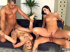 Crazy pornstars Aruna Aghora, Sandra Luberc in Horny Group sex, European xxx movie