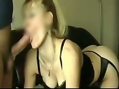 skanky and dirty blonde hooker giving me head in amateur video