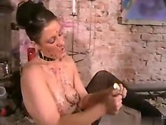 crystel lei candle wax play