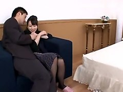 Amazing Japanese slut Imai Natsumi in Crazy Stockings JAV scene