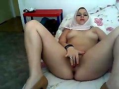 hijab playing with herself turbanli