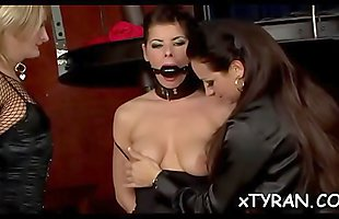 Dude gets tied up and absolutely dominated by a hot whore