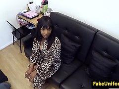 doggystyle ebony babe banged by cop