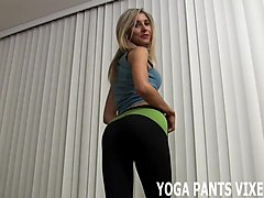 these skin tight yoga pants make me feel so fucking sexy joi