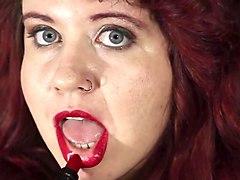 luckys first lipstick application video