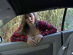 cute teen hitchhikes and boned in public