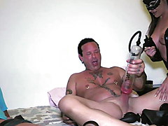 Extreme porn with the extreme toys of Patty the beast