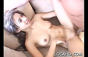 Seductive girlfriend begins groaning loudly from wild orgasms