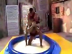 Oily wrestling