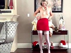 wierd blonde living room strip