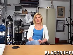 blonde tattooed latina babe rides massive black cock hard