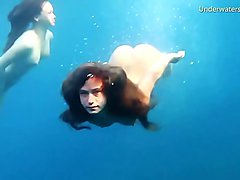 Hotties naked alone in the sea