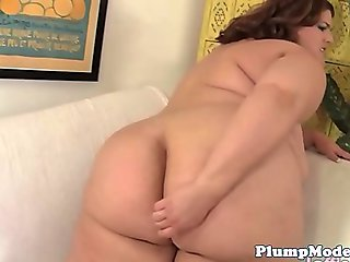 Dildo loving bbw pleasures her tight pussy