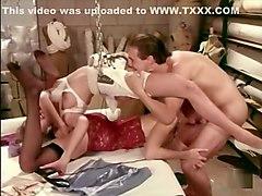 Crazy pornstars Nicole London and Melanie Moore in horny vintage, masturbation porn scene