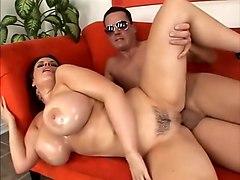Incredible pornstar Daphne Rosen in horny brunette, big tits porn video
