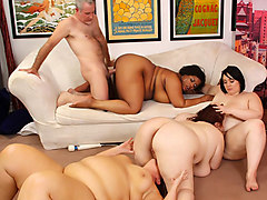 Alexxxis Allure & Erin Green & Lady Lynn & Marlise Morgan in 4 Horny Bbws Banging An Innocent Guy. - JeffsModels