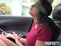 PropertySex Blindfolded Vienna Black Surprised With New House