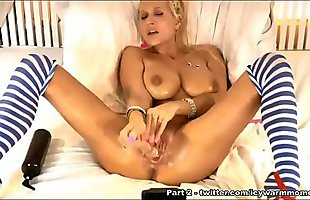 Blonde Milf with perfect pussy enjoying dildo - Part 1
