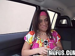mofos - latina sex tapes - parking lot porn starring  gabby