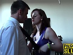 sexy dominatrix vivienne swaps the roles and gets dominated