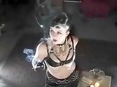 domino, gothic, cigarette