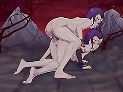 Teen Titans: Raven Gets Fucked Hard By Clones